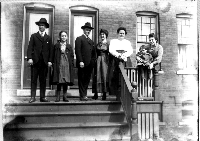 Family on Front Porch, Champlain Avenue, Ca. 1900